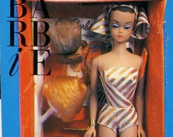 """Barbie Collectible Trading Card - """"Fashion Queen Barbie"""" 1959 - Card No. 304 for Barbie collectors, dioramas, Barbie history"""