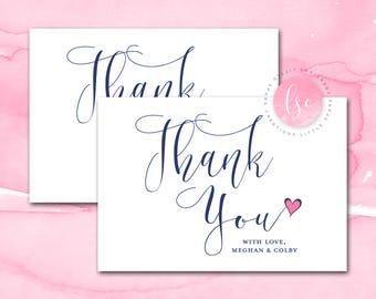 Thank You Cards, Thank You Note, Note Cards, Wedding Thank You Cards