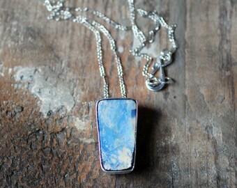 Moonlit Pendant Raw Boulder Opal