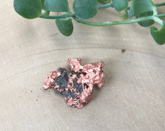 Natural Copper Nugget - Raw Michigan Copper - Mineral Specimen - Home Altar - Crystal Display Piece - Rough Copper Ore - Metaphysical Stone