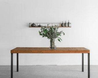 Reclaimed Wood Dining Table - Hudson Steel Legs