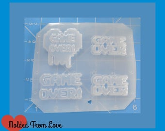 SALE GAME OVER!  Handmade Resin Mold
