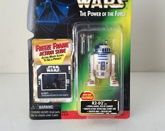 Vintage Star Wars R2-D2 Action Figure with Pop Up Scanner and Tools - Star Wars Droid, Artoo Detoo, Kenner Star Wars Figure for Kids