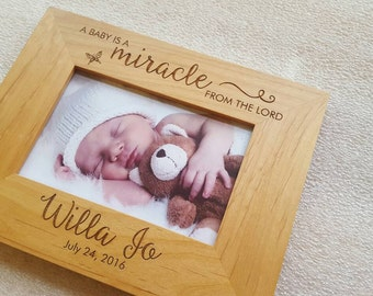 Baby frame etsy personalized baby picture frame personalized baby frame newborn gift engraved newborn gift negle Images