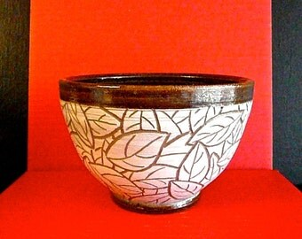 MIXING  BOWL, Tumbled leaf design, ,  free pendant with each order