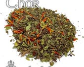 Thor Devotional Tea - loose leaf herbal tea, peppermint, spearmint, red beard, god of thunder, deity, Norse pagan, Viking, mint tea