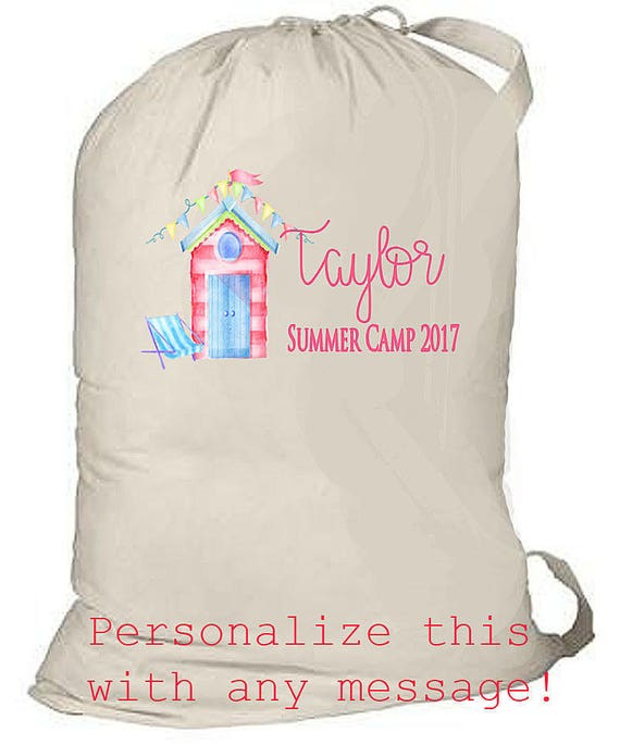 Children's Overnight Bag, Laundry Bag, Canvas Tote, Personalized Tote Bag, Custom Totebag, Family Beach Bag, Grad Gift, Laundry bag college