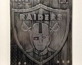 Buy one similar Faux Steel MetalArt Painting OAKLAND Football Custom Ready To Hang Sports Mancave Man Cave