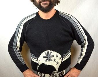 Vintage 80s Kiwi Sweater - By Palmerston in New Zealand