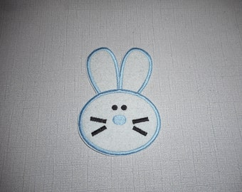 Free Shipping Ready to Ship Easter Boy Rabbit Machine Embroidery Iron on applique