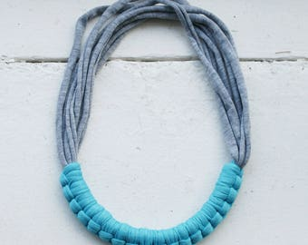 Turquoise and grey necklace