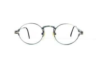90s Jean Paul Gaultier Off Round Eyeglasses Sunglasses Unisex Vintage 1990's Green Frames Model 55-3171 #M904 (EB)