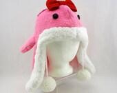 Pink fuzzy quaggan hat