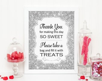 Candy Buffet, Silver Bridal Shower Sign, Candy Buffet Sign, Printable Baby Shower, Wedding Candy Buffet, Silver Candy Buffet, Candy Bar Sign