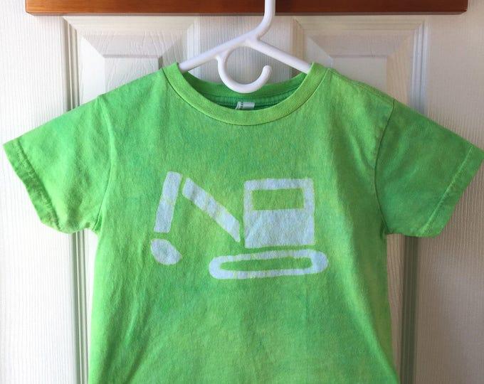 Kids Excavator Shirt, Kids Truck Shirt, Kids Digger Shirt, Green Truck Shirt, Construction Shirt, Girls Truck Shirt, Boys Truck (4/5)