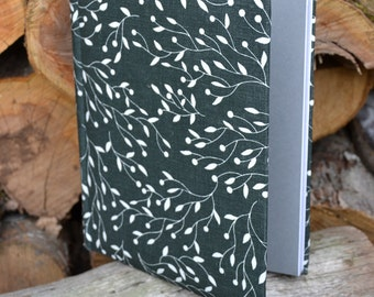 Writing Journal /  Handmade Sketchbook / Handmade Journal / Unique Journal /  Notebook /  Diary /  A5. 8 x 6 inch Black and white branches