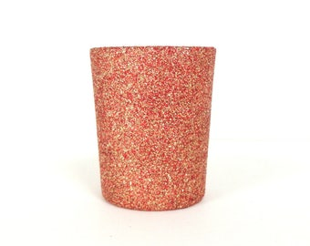 Red And Gold Blend Glittered Votive Candle Holder Wedding And Shower Decorations Home Decor