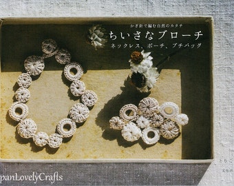 Crochet Small Accessories Patterns, Japanese Craft Book, Japanese Style Feminine Necklace, Pouch, Bag, Brooch, Easy Crochet Tutorial, B1820