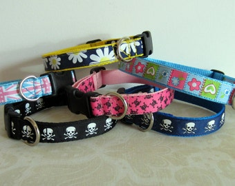 "Funprints Dog Collars - medium width (20mm /3/4"")"