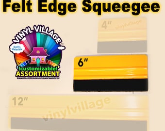 """6"""" Felt Edge Squeegee  adhesive backed Vinyl Appication Tool"""