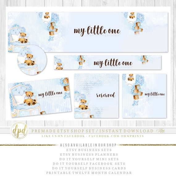 Premade DIY Etsy Shop Set | Blank Etsy Set | Premade Shop Set | Etsy Shop Graphics | Etsy Business Set | INSTANT DOWNLOAD-CR359