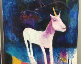 Unicorn for Self Empowerment - 16x20 ORIGINAL by Carissa Paige