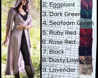 SPECIALTY! The Limited Edition The Nomad Cloak with Hood w/ crystals by Opal Moon Designs (Sizes S-3XL) Choose your Color