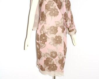 HOLLY HARP Vintage Silk Angel Sleeve Cape Dress