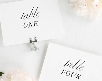 Modern Chic Table Numbers - 4x6""