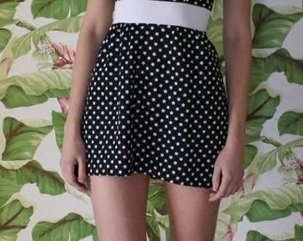 Vintage Mini Dress / YOU'RE A STAR Dress / Star Print /  Black and white Mini Dress / Date Night / Avant Garde / Independence Day Dress