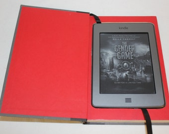 "Kindle E-Reader Case,  Kindle Basic 2,  Recycled Book, Real Book Case,  Recycled Hard Cover Book.  ""Second Chance"" by Brzezinski"