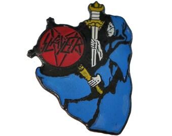 SLAYER vintage enamel pin badge slaytanic slatanic slaytanic witch warlock devil reign in blood