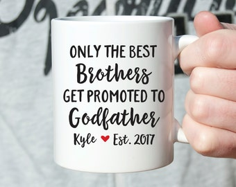 Godfather Gift Godfather Mug Godfather Pregnancy Announcement to Brother Gift Pregnancy Reveal to Brother Pregnancy Announcement Uncle Gift