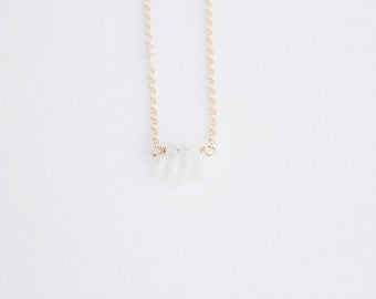 Petals Necklace - 14k Gold Filled or Sterling Silver - Petals