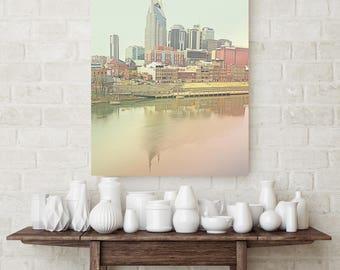 Canvas art, Nashville canvas print, city scape canvas, large wall art, gallery wall decor, Nashville decor, apartment art, city prints