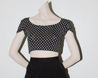 1980's Classic Floral Crop - Made in the USA