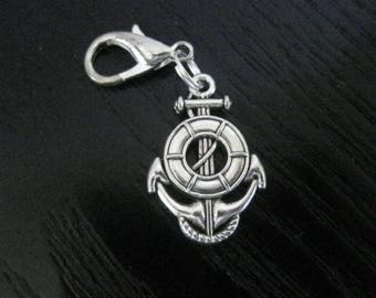DS Anchor & Life Preserver Clip On Planner Journal Charm
