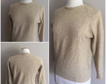 Vintage Camel Sweater // 100% Lambs  Wool