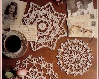 """Crochet Doily Patterns """"Antique Doilies"""" Leisure Arts Crochet Leaflet 2043, Doily Designs by Lucille LaFlamme, Eight (8) Doilies to Crochet"""