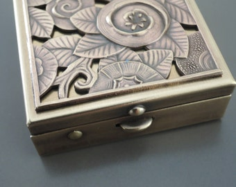 Art Deco Vintage Ring Dish - Vintage Ring Box - Art Deco Ring Box  - Wedding Ring Box - Art Deco Jewelry Box - Ring Holder - Jewelry Box