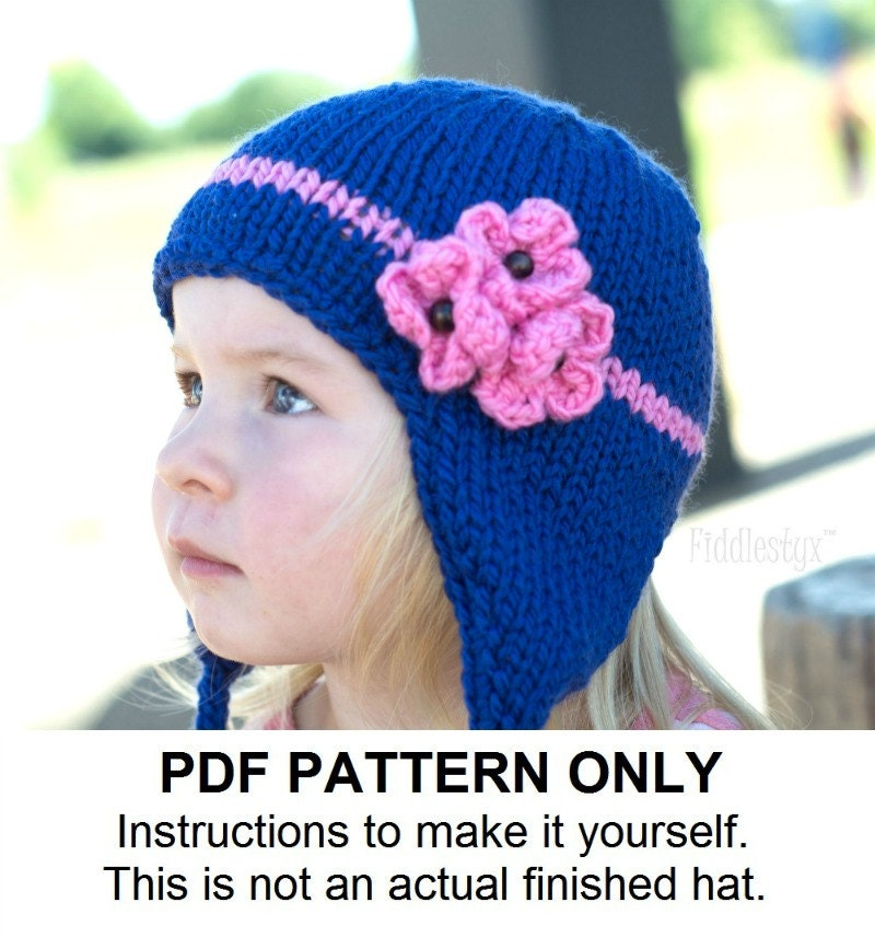 Earflap Hat Knitting Pattern Bulky Yarn : Knitting Pattern Earflap Hat Pattern the KIMBERLY Cap