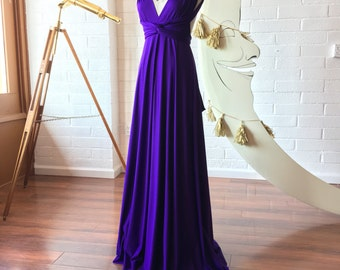Stargazer Royal Purple Octopus Infinity Wrap Gown~ Bridesmaids, Wedding, Special Occasion, Prom