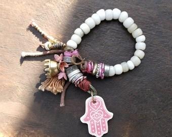 Invincible - Rustic Tribal Stacking Bracelet