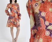 Mod Dress 60s Dress 60s Mod Dress Mod Mini Dress 1960s Dress Party Dress Psychedelic Dress Vintage Dress Wedding Cocktail Party Mini S