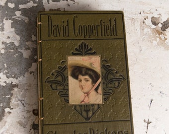 1900s DAVID COPPERFIELD Vintage Grid Lined Journal Notebook