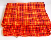 Orange Fabric 1 Plus Yards Yellow and Black Stripes , Remnant Craft Material One Piece Thick Wool Type Blend 50 x 50