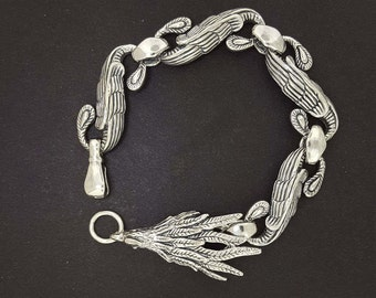 Chinese Phoenix Bracelet in Sterling Silver made to order