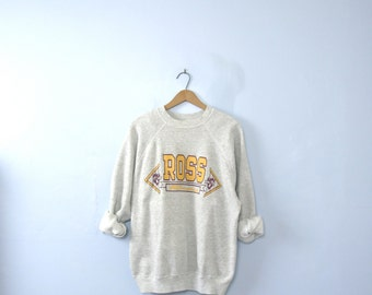 Vintage 80's college sweatshirt, university jumper, Ross Rams, size XL / large