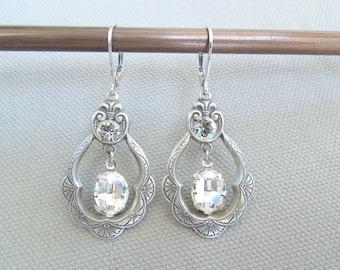 Bridal earrings Swarovski Bridal jewelry Swarovski Earrings Crystal Chandelier earrings Swarovski Crystal Drop Bridal Earrings BRANDY
