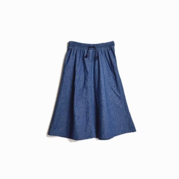 Vintage 90s Blue Jean Skirt / 90s Calvin Klein Skirt - women's small/medium